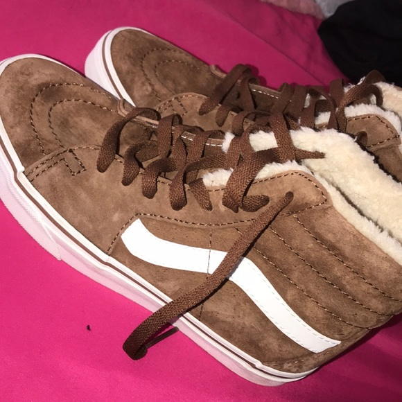 brown vans fur inside